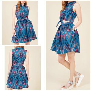 NWT Modcloth Where My Picnic People Magnets Dress